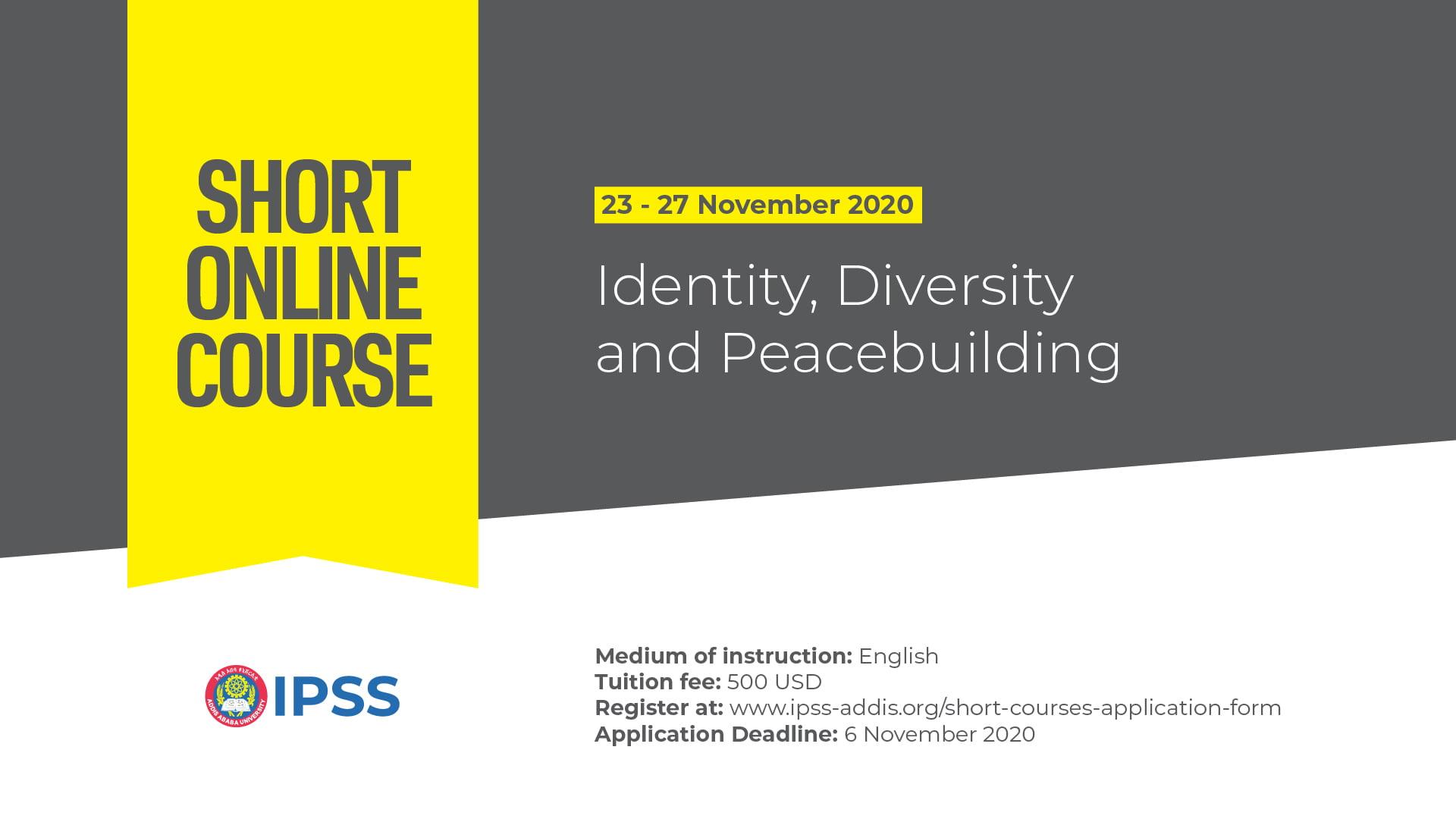 Short Course: Identity, Diversity and Peacebuilding