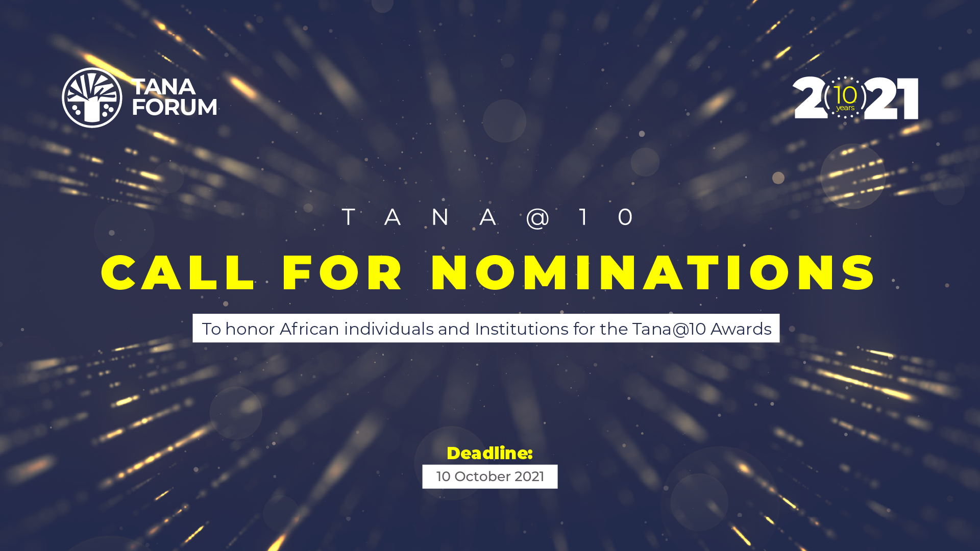 Call for Nominations to Honor African Individuals and Institutions for the Tana @10 Awards